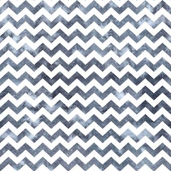 Aquarel blauw gestreepte zig zag naadloze achtergrond