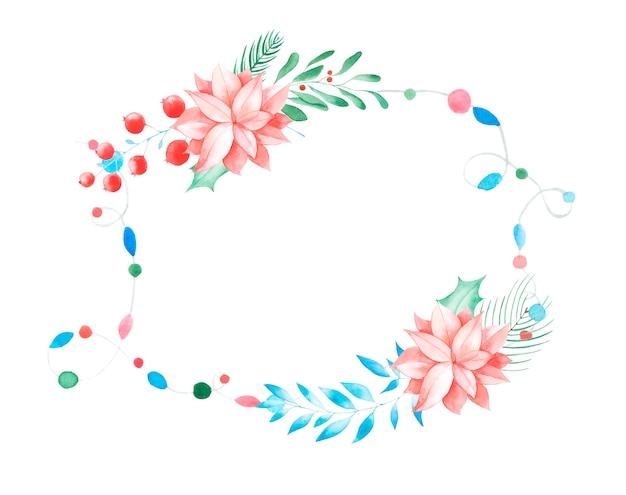 Aquarel bloem frame.