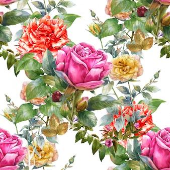 Aquarel bloemen schilderij