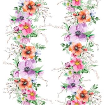 Aquarel bloemenprint