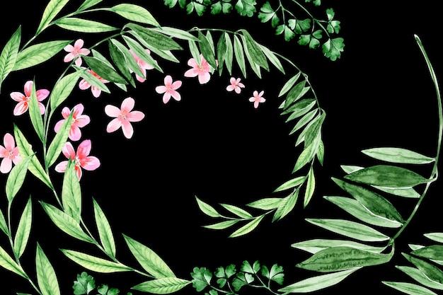 Aquarel bloemkaders van verschillende formaten