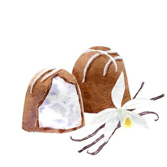 Aquarel chocolade