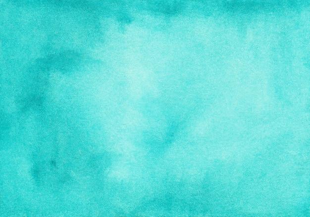 Aquarel diep turkoois blauwe kleurovergang achtergrondstructuur