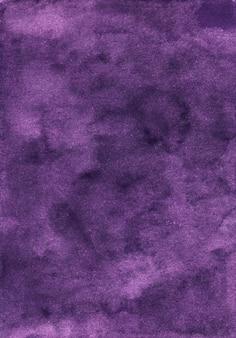 Aquarel diep violette achtergrondstructuur, met de hand beschilderd. vintage aquarel druif kleur achtergrond.