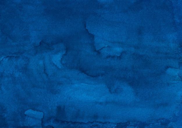 Aquarel diepblauwe vloeibare achtergrondstructuur
