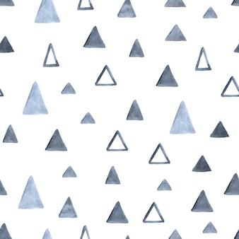 Aquarel driehoeken naadloos patroon