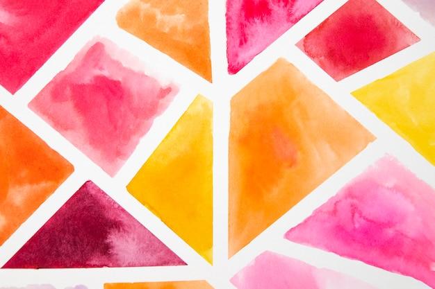 Aquarel elementen ontwerpen close-up