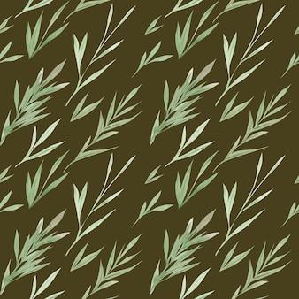 Aquarel groen naadloze patroon