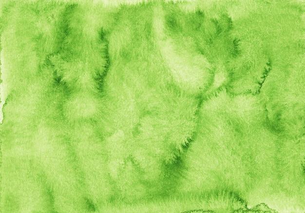Aquarel groene achtergrond textuur. aquarelle groen kleur achtergrond. heldere aquarel overlay.