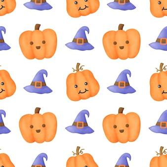 Aquarel halloween naadloze patronen.