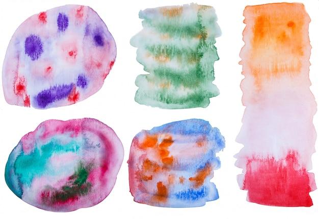 Aquarel handgeschilderde elementen