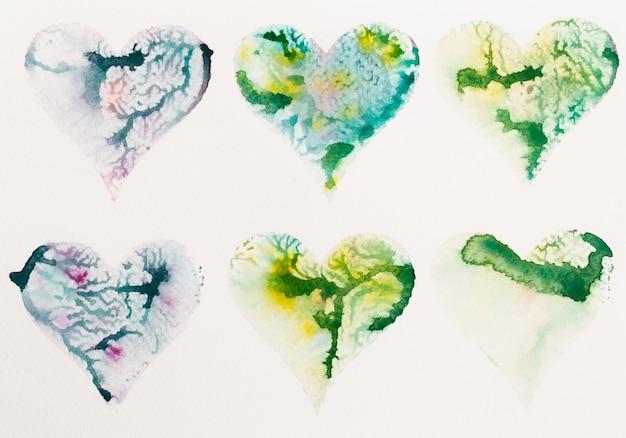 Aquarel hart valentijnsdag g.