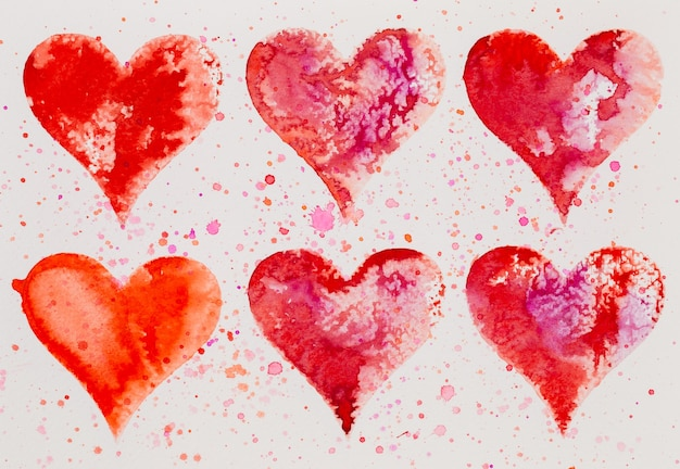 Aquarel hart. valentijnsdag greating kaart, liefde, relatie, kunst, schilderen.