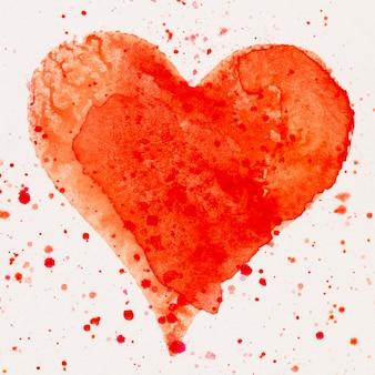 Aquarel hart valentijnsdag