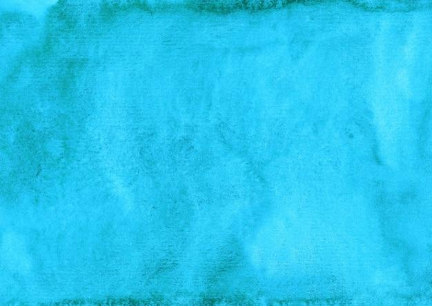 Aquarel heldere turquoise achtergrond schilderij