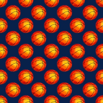 Aquarel illustratie basketbal bal naadloze achtergrond ideaal voor wallpapers covers verpakking