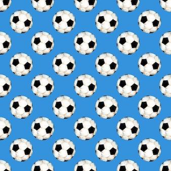 Aquarel illustratie van een voetbal patroon sport symbool naadloze herhalende print