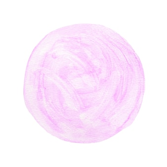Aquarel kunst illustratie achtergrond, paarse cirkel vorm aquarel geïsoleerd op wit b