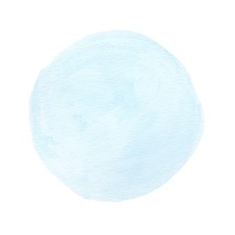 Aquarel kunst illustratie, blauwe cirkel vorm aquarel getextureerde