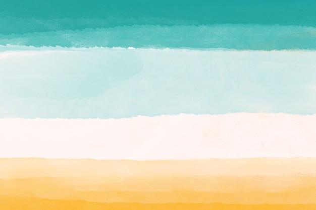 Aquarel mobiele achtergrond, geel blauw desktop wallpaper abstract ontwerp