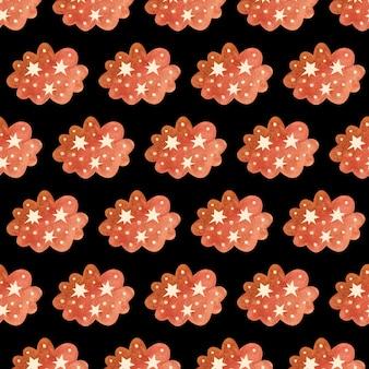 Aquarel moderne abstracte boho beige wolken en regen naadloos patroon. handgeschilderde kinderkamer schattige bohemien print kan worden gebruikt voor plakboekpapier, behang, inpakpapier, stof, textiel