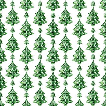Aquarel naadloze patroon met verschillende feestelijke kenmerken van nieuwjaarsvakantie