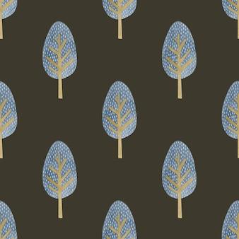 Aquarel naadloze patroonbomen in de scandinavische stijl