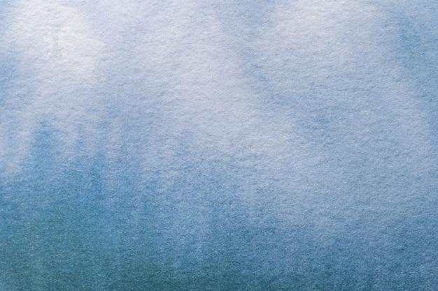 Aquarel op canvas met zacht denim verloop
