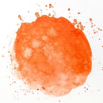 Aquarel oranje penseelstreek