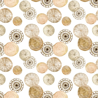 Aquarel patroon van geweven schijf kunst aan de muur. natuurlijke ronde schijf woondecoratie.