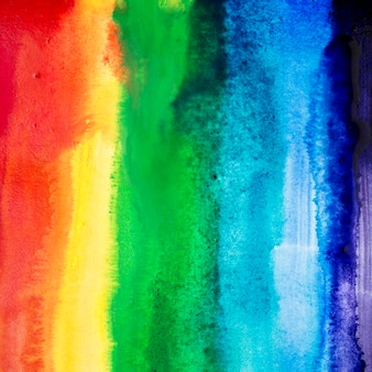 Aquarel penseelstreken met regenboogkleuren