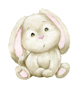 Aquarel schattig konijn