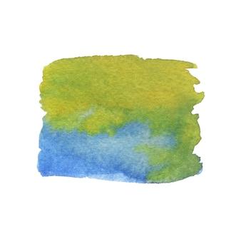 Aquarel schilderij textuur. groene en blauwe kleuren.