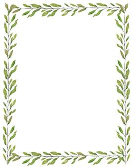 Aquarel schilderij van bladeren illustratie op witte achtergrond