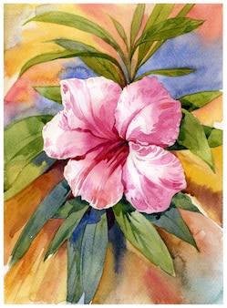 Aquarel schilderij van bloem