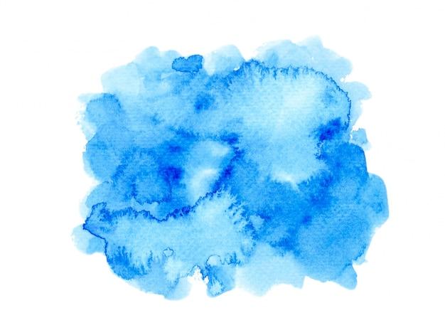 Aquarel verf achtergrond. kleur blauw tinten kunst op papier getekend