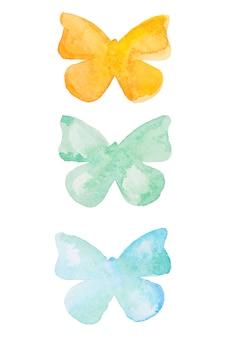 Aquarel vlinder. hand getekend mooie vlinders set geïsoleerd.