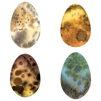 Aquarel vogels eieren. decoratieve paaseieren