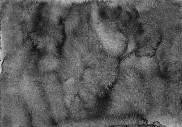 Aquarel zwarte achtergrond textuur. waterverf abstracte oude zwart-wit donkere houtskool overlay.