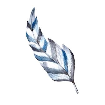Aquarelpen in blauwe en witte strepen het enige element