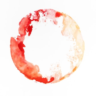 Aquarelvlek rood en geel