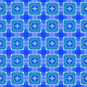 Arabesk hand getrokken ontwerp. blauw prachtig boho chic zomerdesign. oosterse arabesk hand getekende rand. textiel klaar stralende print, badmode stof, behang, inwikkeling.