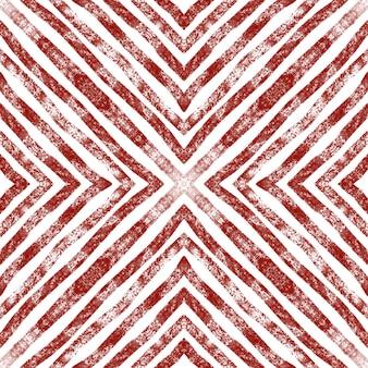 Arabesque hand getekend patroon wijnrood symmetrische caleidoscoop achtergrond oosterse arabesque hand d...