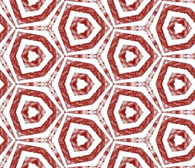 Arabesque hand getekende patroon. wijn rode symmetrische caleidoscoop achtergrond. textiel klaar nieuwsgierige print, badmode stof, behang, inwikkeling. oosterse arabesk hand getekend ontwerp.