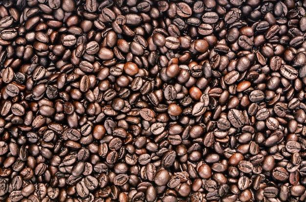 Arabica koffiebonen achtergrond geweven