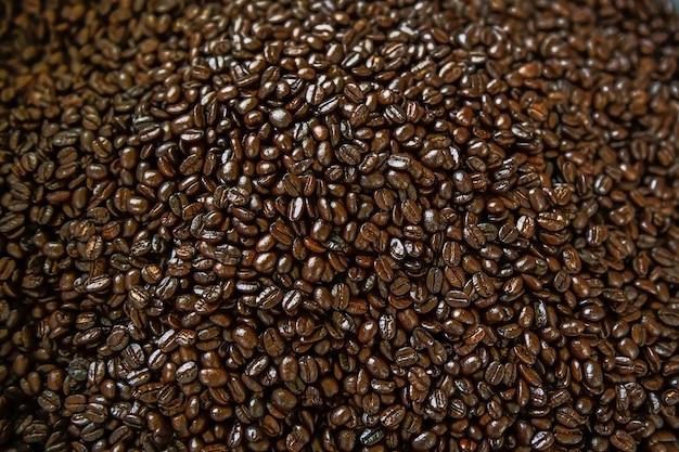 Arabica koffiebonen achtergrond