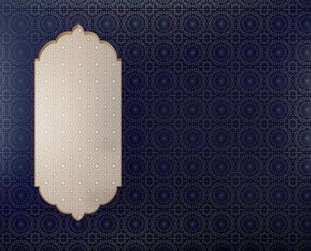 Arabisch-islamitische stijl patroon achtergrond met boog