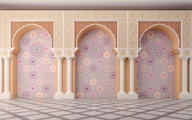 Arabisch muurontwerp met boog