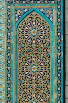 Arabisch ornament - decoratie van een moskee in st. petersburg