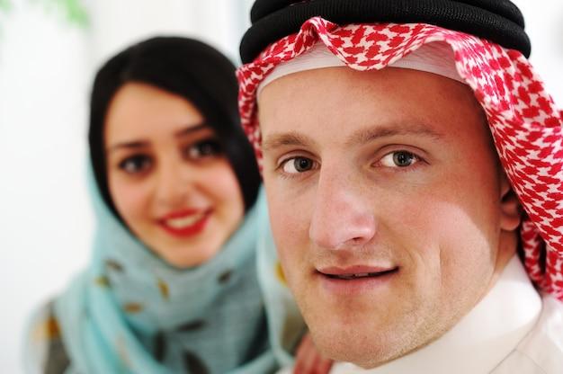 Arabisch paar, echtgenote en echtgenoot